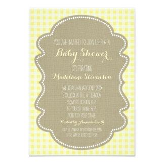 Convites amarelos do chá de fraldas de convite 12.7 x 17.78cm