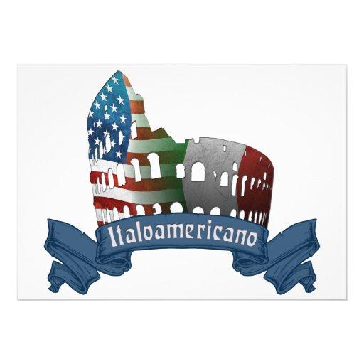Convites americanos italianos do coliseu de Roma