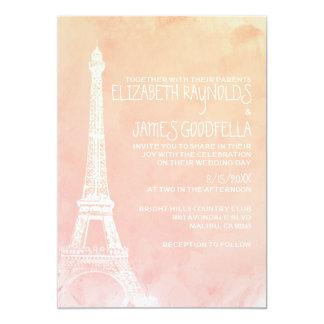 Convites antigos do casamento de Paris