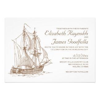 Convites antigos do casamento do barco