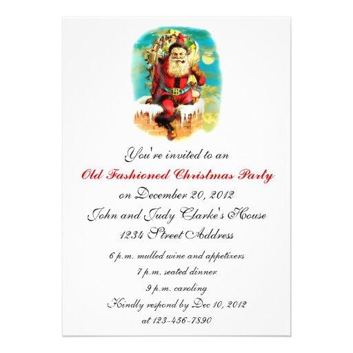 Convites antiquados da festa de Natal