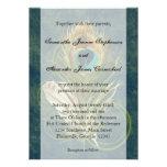 Convites astutos do casamento da pena do pavão do