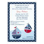 Convites ausentes do chá de fraldas do oceano do convite 12.7 x 17.78cm