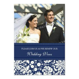 Convites azuis da renovação do voto de casamento