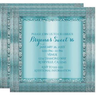 Convites azuis & de prata da cerceta do Aqua do