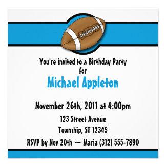 Convites azuis do aniversário do futebol