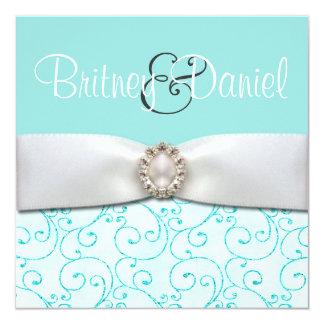 Convites azuis do casamento
