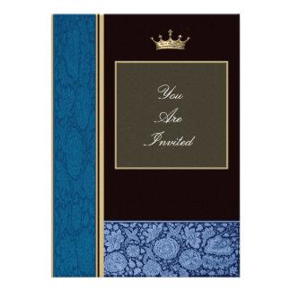 Convites azuis do casamento da moldura para retrat