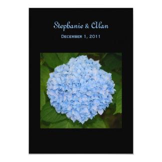 Convites azuis do casamento do Hydrangea