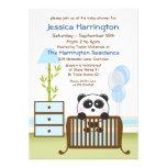 Convites azuis do chá de fraldas da panda