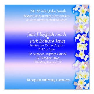 Convites azuis do costume do casamento de praia do