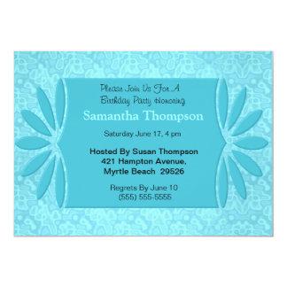 Convites azuis elegantes do aniversário