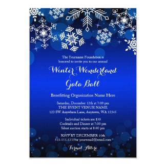 Convites azuis modernos da bola da gala do inverno