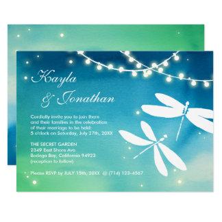 Convites azuis & verdes da cerceta da libélula do
