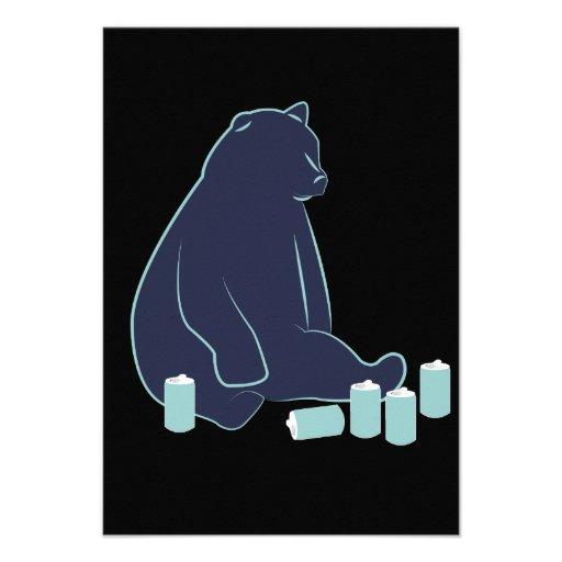 Convites bêbedos do urso