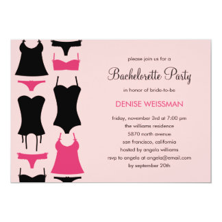 Convites bonito da festa de solteira da lingerie