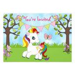 Convites bonitos do aniversário do cavalo do pônei