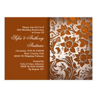 convites bonitos do aniversário do ornamento flora