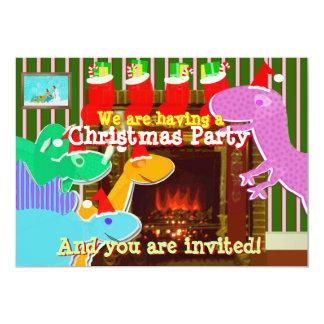 Convites bonitos dos dinossauros dos desenhos convite 12.7 x 17.78cm