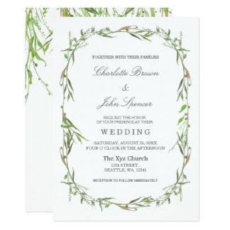 Convites botânicos do casamento das hortaliças