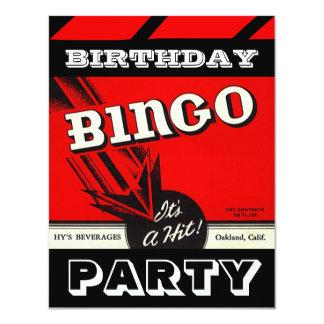 Convites brancos pretos vermelhos do Bingo do Convite 10.79 X 13.97cm