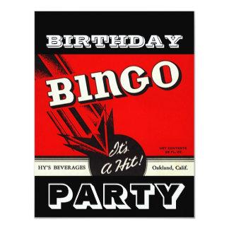 Convites brancos pretos vermelhos do Bingo do