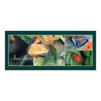 Convites brasileiros da borboleta convite 10.16 x 23.49cm