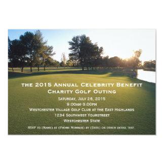 Convites cénicos da excursão do golfe convite 12.7 x 17.78cm