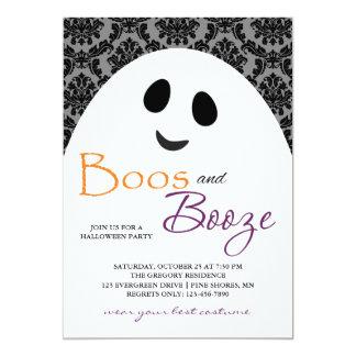 Convites cinzentos do Dia das Bruxas do fantasma
