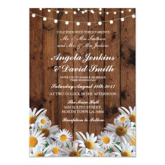 Convites claros florais rústicos do casamento de