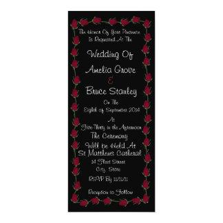 Convites clássicos do casamento da rosa vermelha