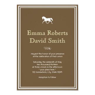 Convites clássicos do casamento do cavalo do