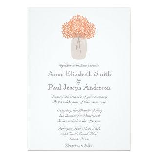 Convites clássicos do casamento do hydrangea do