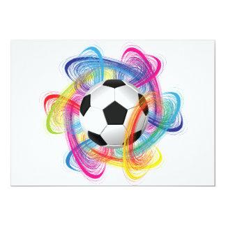 Convites coloridos da bola de futebol