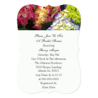 Convites coloridos do Hydrangea