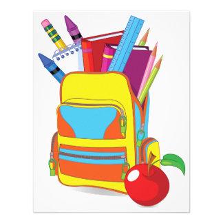 Convites completos do saco de escola