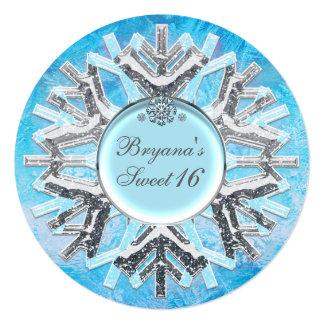 Convites congelados do doce 16 do país das