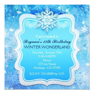 Convites congelados do floco de neve do país das