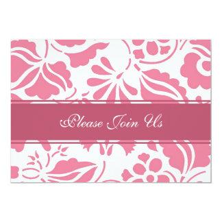 Convites cor-de-rosa & brancos da renovação do
