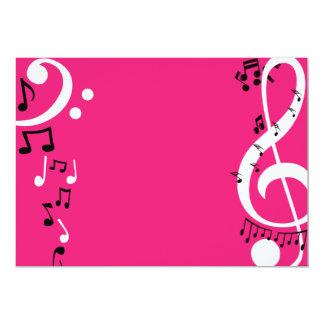 Convites cor-de-rosa da música