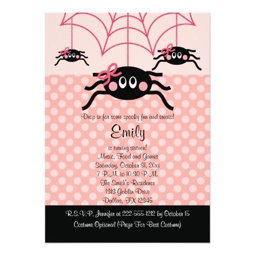 Convites cor-de-rosa do aniversário do Dia das Bru