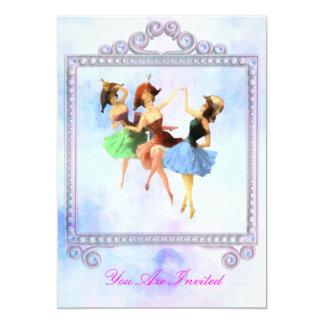 Convites cor-de-rosa do casamento do dançarino