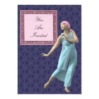 Convites cor-de-rosa e roxos da moldura para