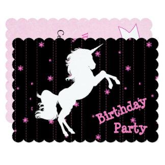 Convites cor-de-rosa & pretos do aniversário do