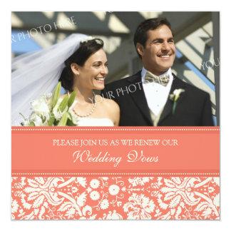 Convites corais da renovação do voto de casamento