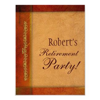 Convites da aposentadoria ou do evento