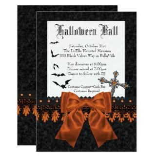 Convites da bola de traje do Dia das Bruxas