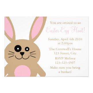 Convites da caça do ovo da páscoa do coelho de Bro