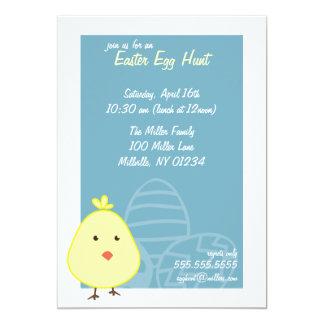 Convites da caça do ovo da páscoa do pintinho do