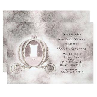 Convites da carruagem de Cinderella do livro de
